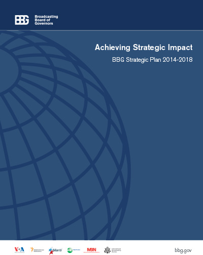 Cover of the 2014-2018 achieving strategic impact report