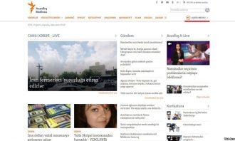 screen grab of rferl azeri site