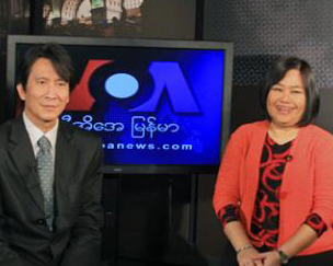 VOA Steps up TV Coverage in Burma
