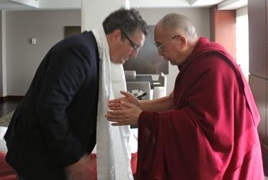 Dalai Lama Discusses BBG and Tibet with Meehan, Liu