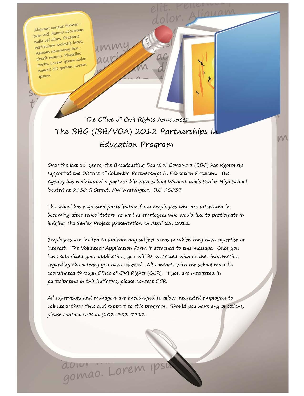 BBG 2012 Partnerships In Education Program