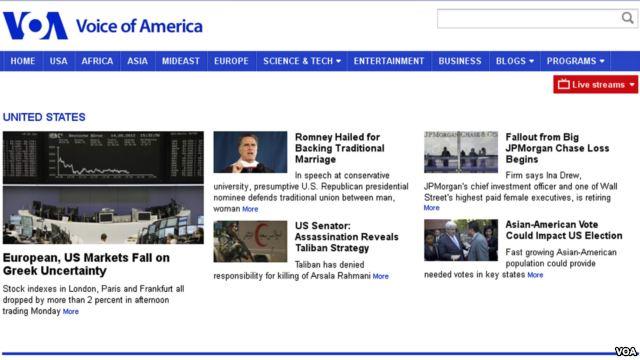 VOA English Website Gets New Look