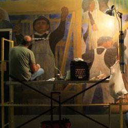 Damaged Art Treasure at VOA Undergoes Repair