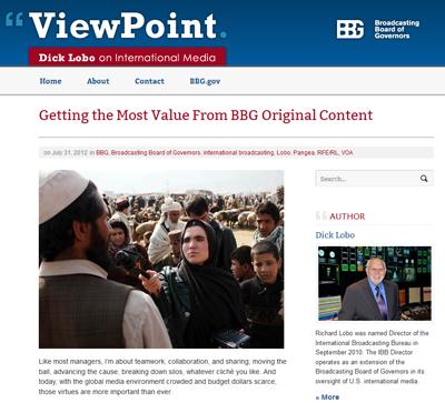 ViewPoint: Dick Lobo on International Media