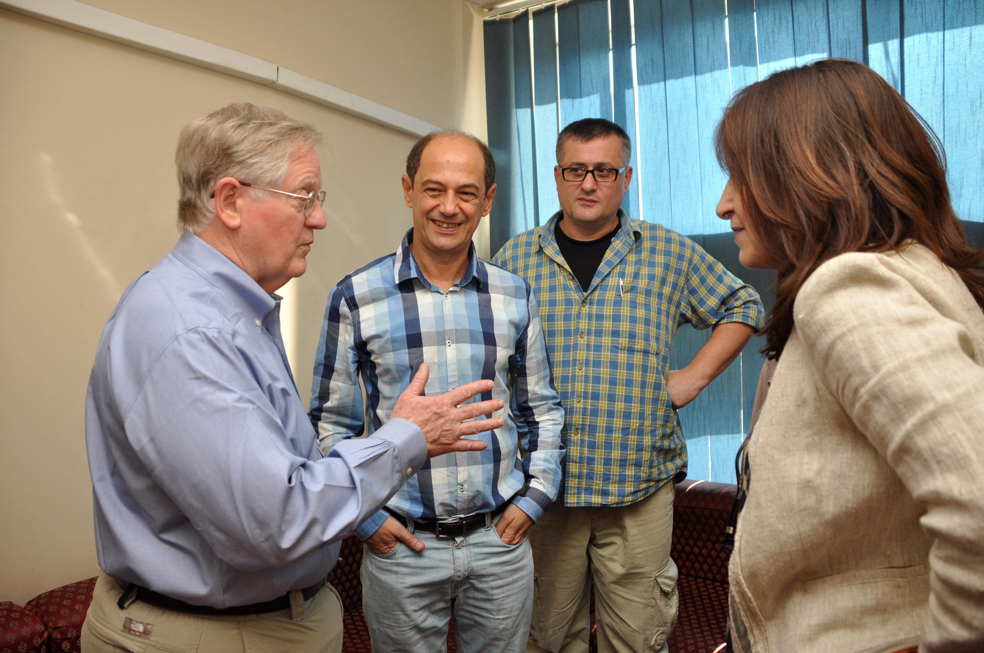 Gov. Ashe Meets RFE/RL Staff in Tbilisi