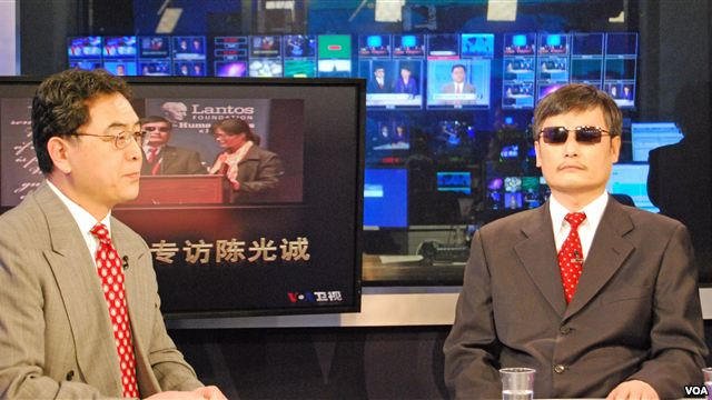 Chinese Dissident Chen Guangcheng Appears on VOA