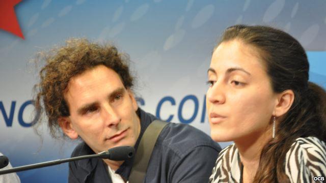 Rosa Maria Payá and Orlando Luis Pardo Lazo Stop by the Martí's