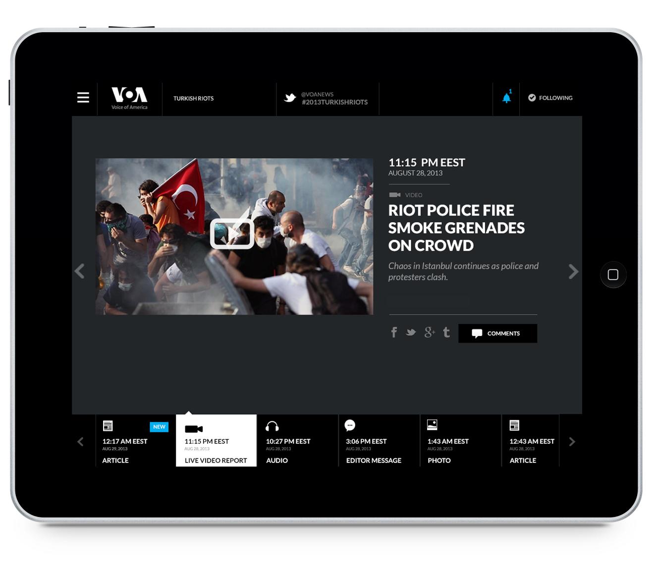 BBG Pioneers Mobile Platform for Breaking News