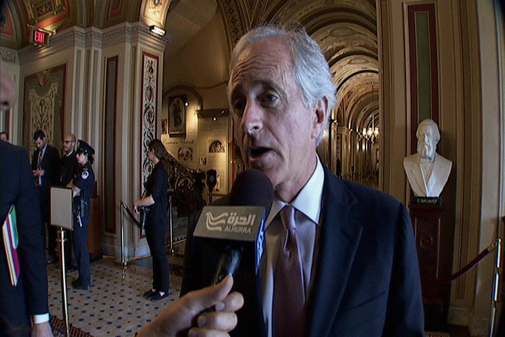 Alhurra TV Interviews Senator Corker and al-Jarba on Syria Crisis