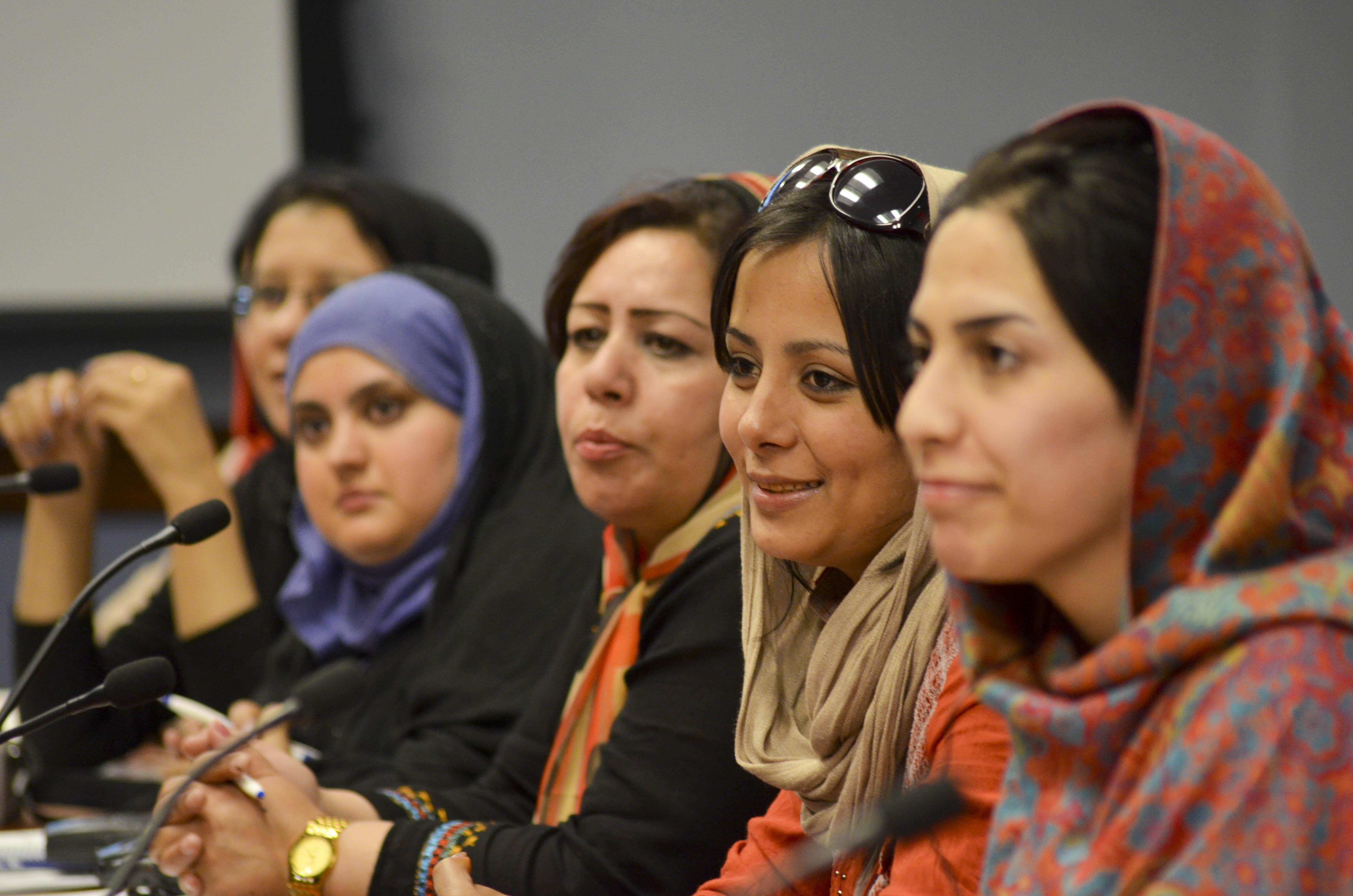 Afghan Women Journalists Visit the BBG