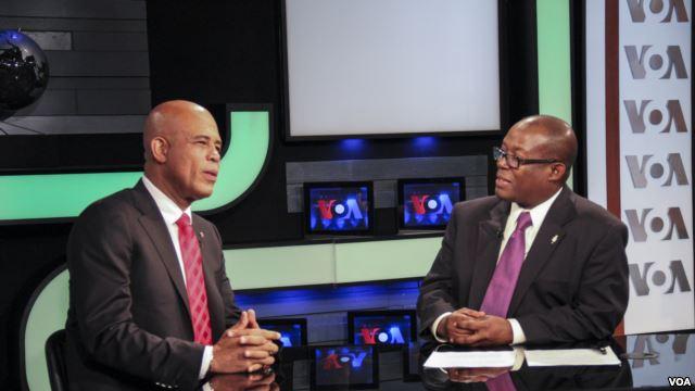 Haitian President Appears on VOA Creole Programs
