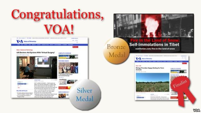 VOA Racks Up Medals at this Year's New York Festivals Best TV and Film Awards