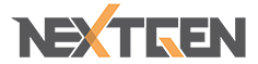 gray and orange NextGen logo