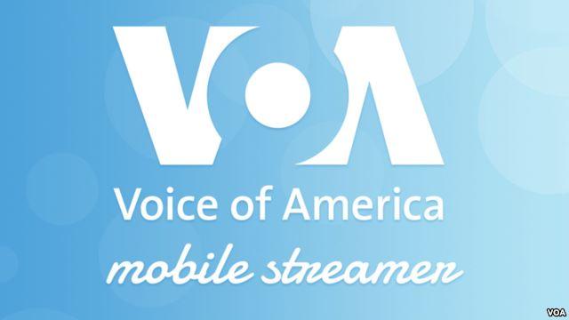 VOA Mobile Streamer light blue logo