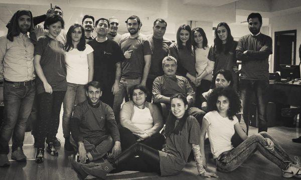 Group picture of the members of the Baku bureau of RFE/RL's Azerbaijani Service