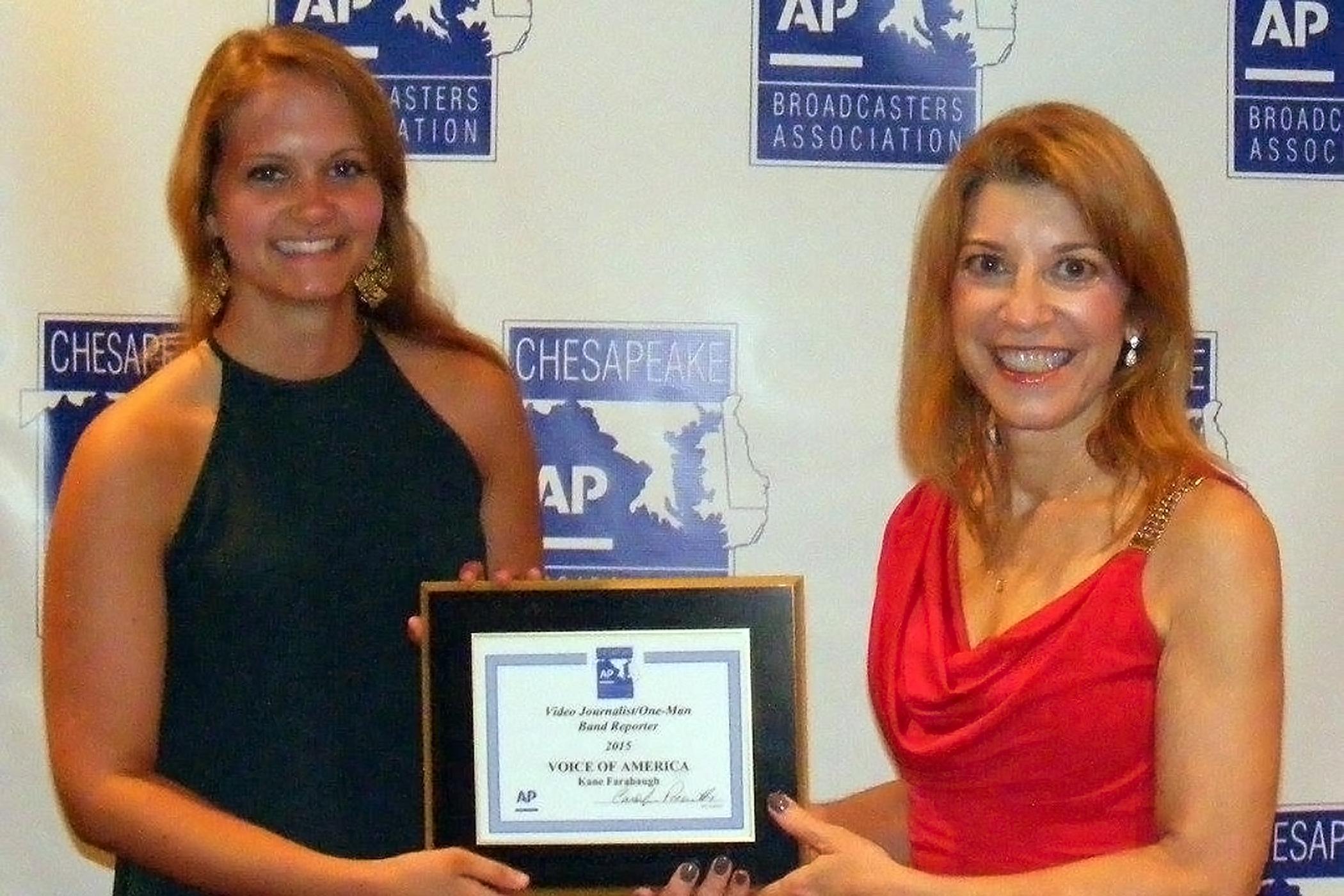 VOA reporter wins award for best video journalist