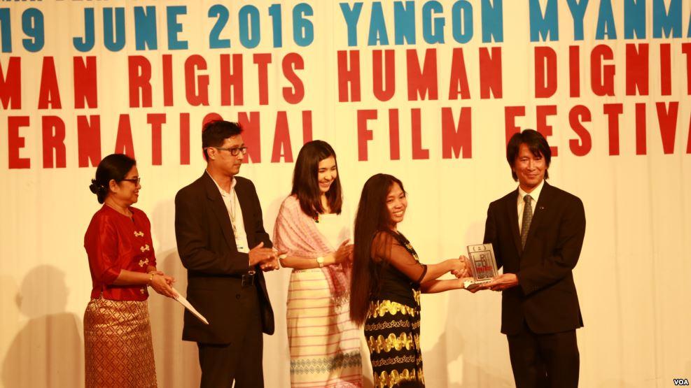 VOA award presented at Myanmar Human Rights Film Festival