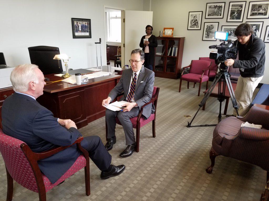 Image link to OAN interviews BBG CEO John Lansing post
