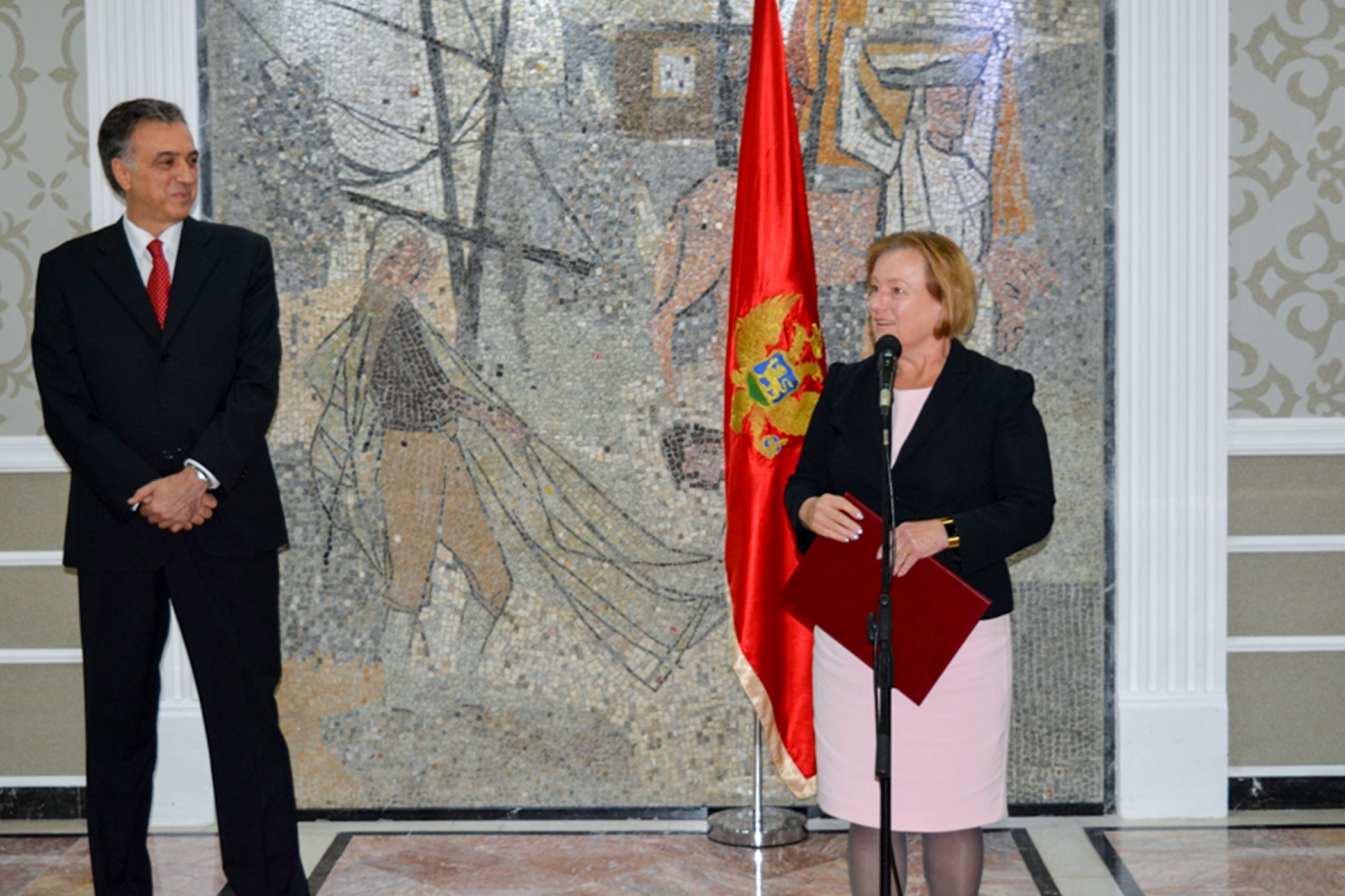 President of Montenegro honors the Voice of America with the National Award of Recognition