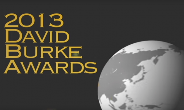 Year 2013, banner promoting David Burke Awards