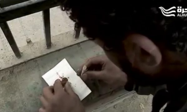 close up of man preparing drugs