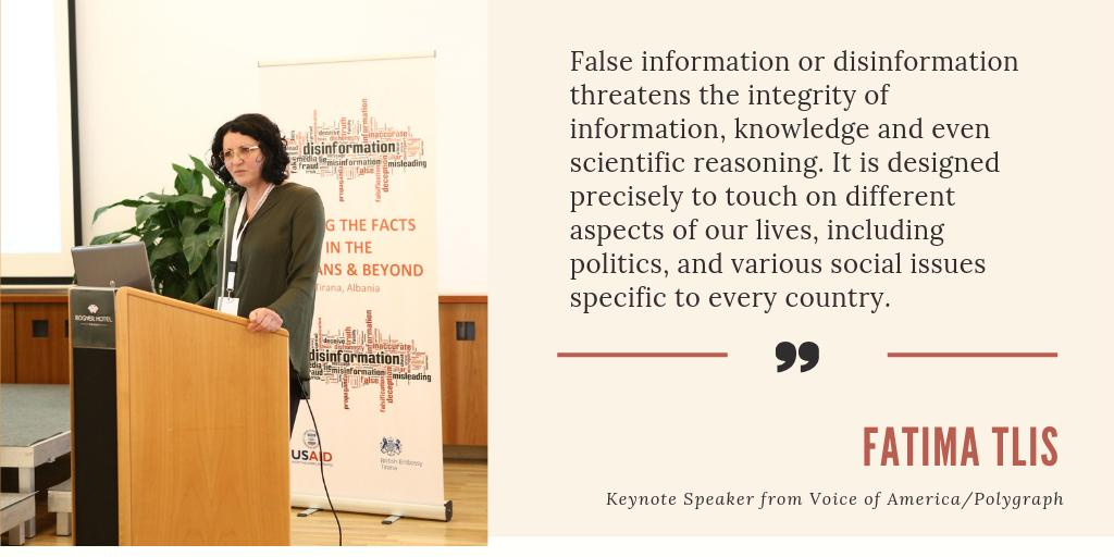 "Conference ""Disinformation: Facing the facts in the Balkans and beyond"""