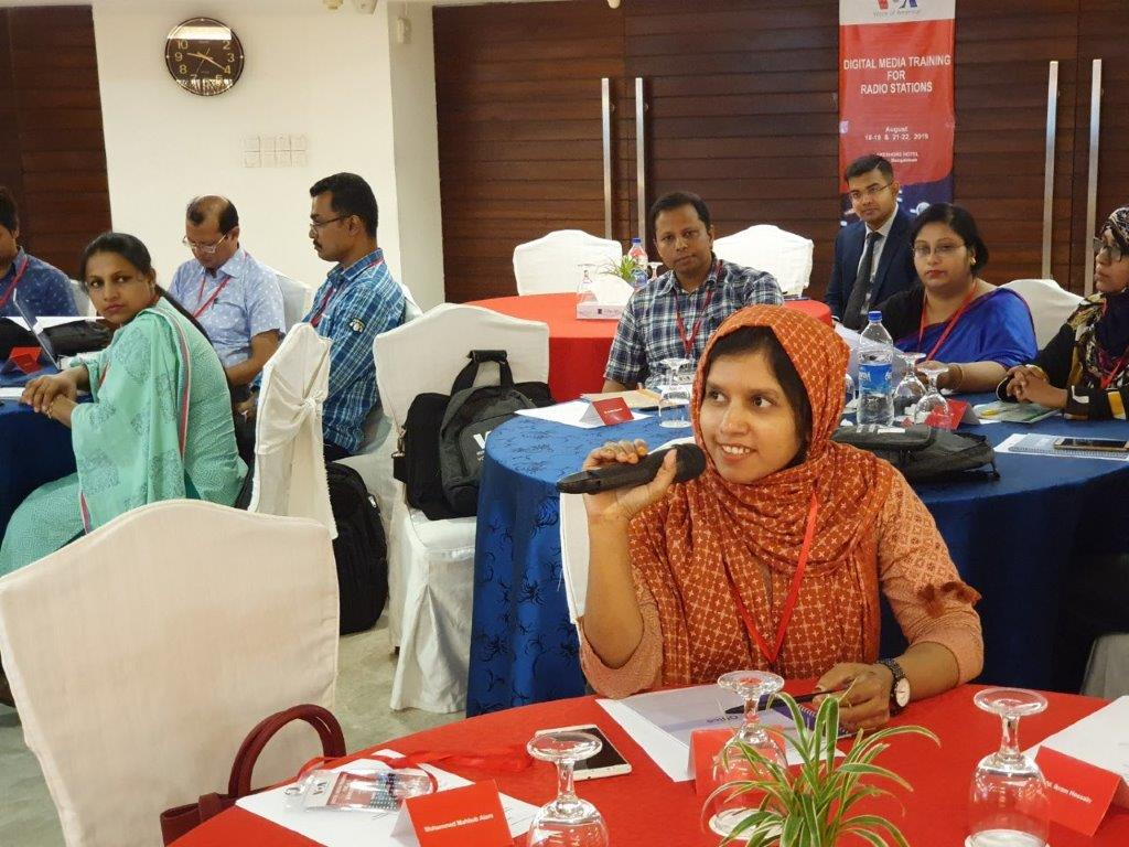 Digital Media Training for Radio stations in Bangladesh