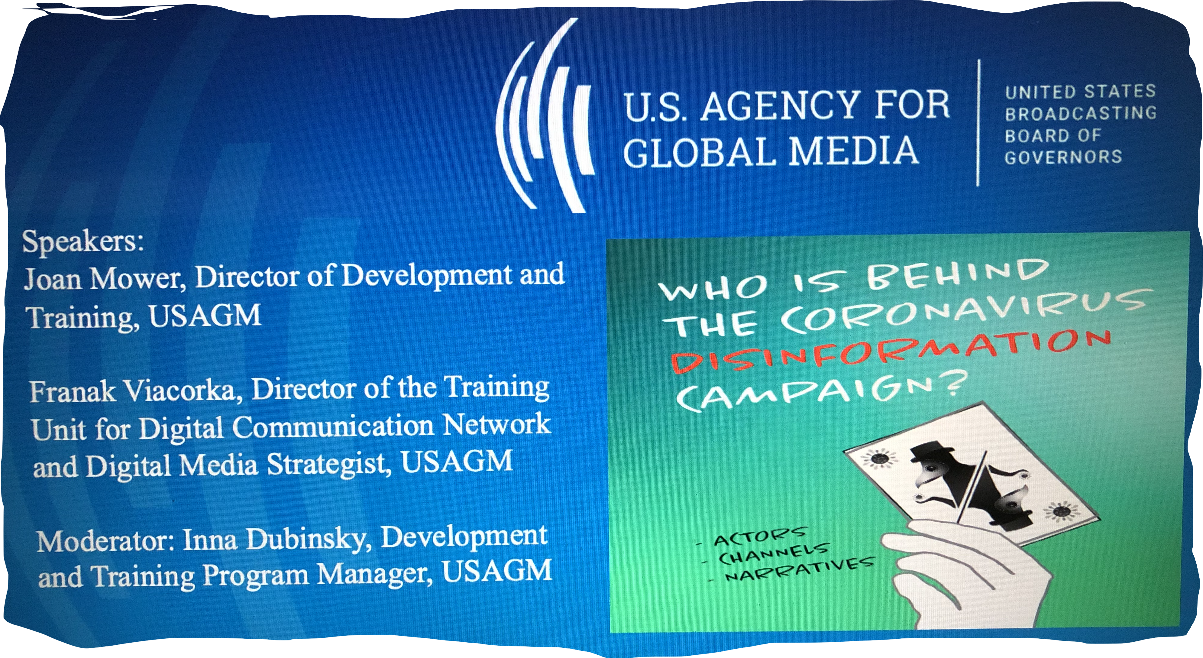 Webinar for journalists in Eurasia: Who is behind the COVID-19 Disinformation Campaign?