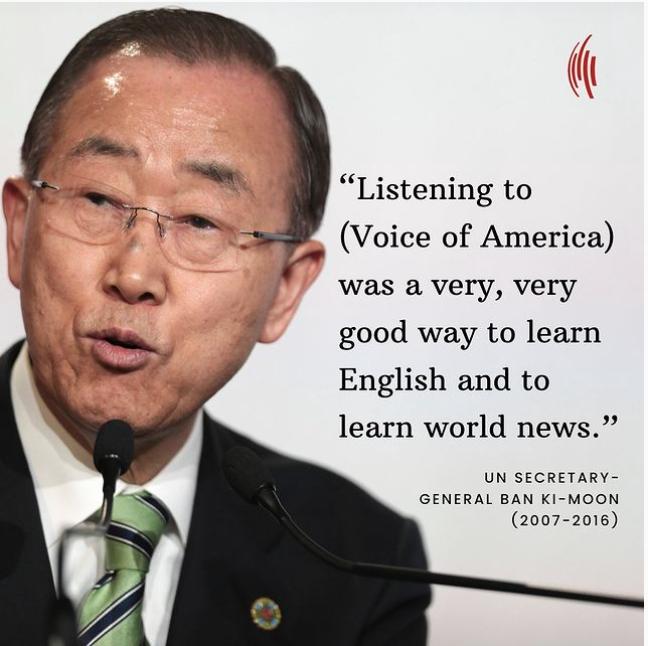 Former VOA listener Ban Ki-Moon