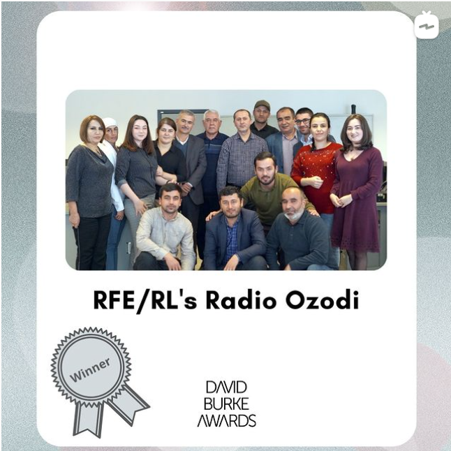 2020 Burke Award Winner – Radio Ozodi