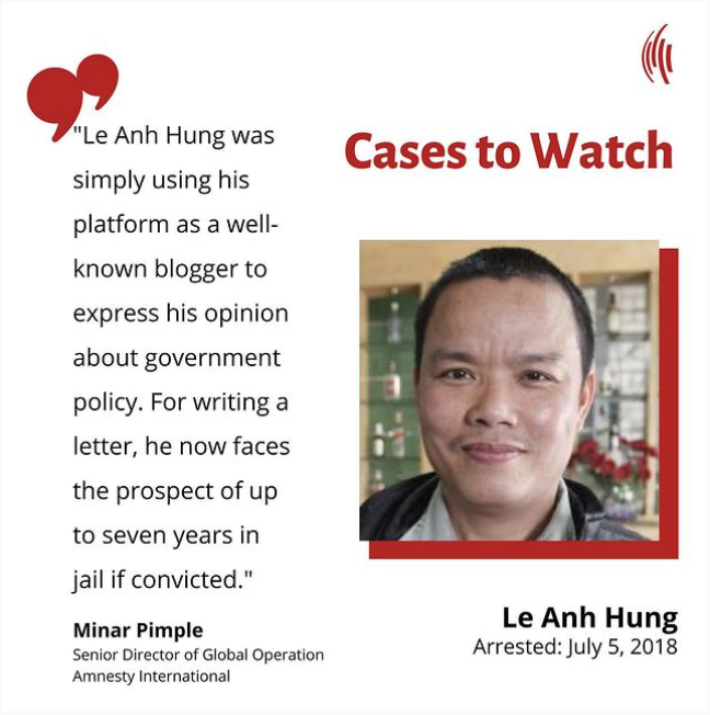 Cases to Watch – Le Anh Hung