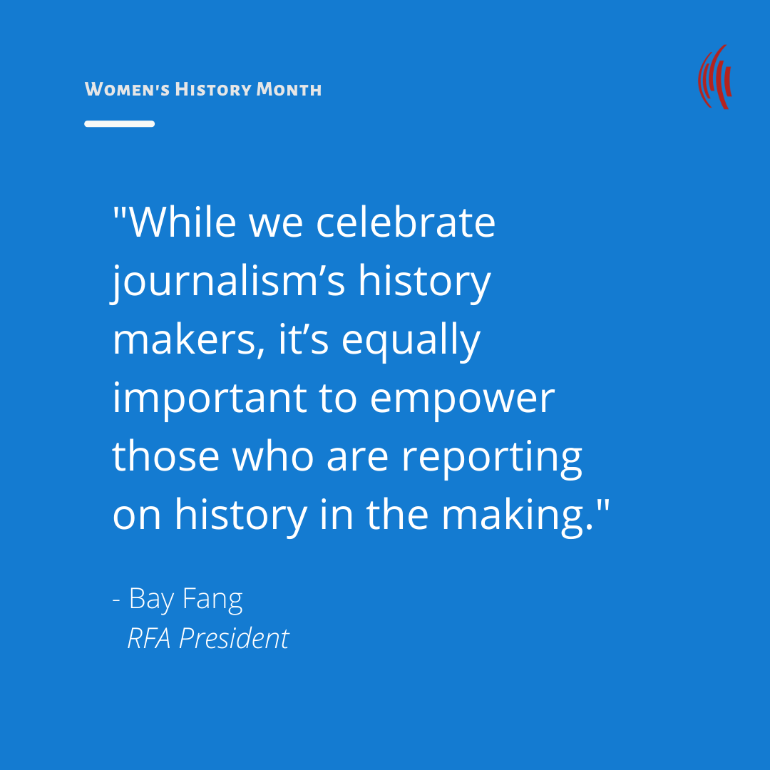 Don't just celebrate women journalists, support them