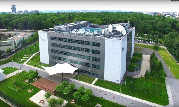 Aerial shot of RFE/RL's headquarters