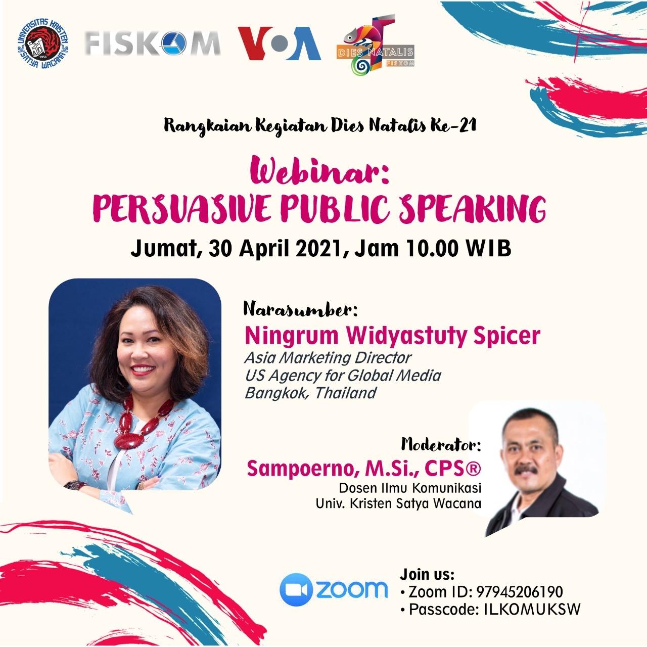 Webinar for Indonesian Students: Persuasive Public Speaking
