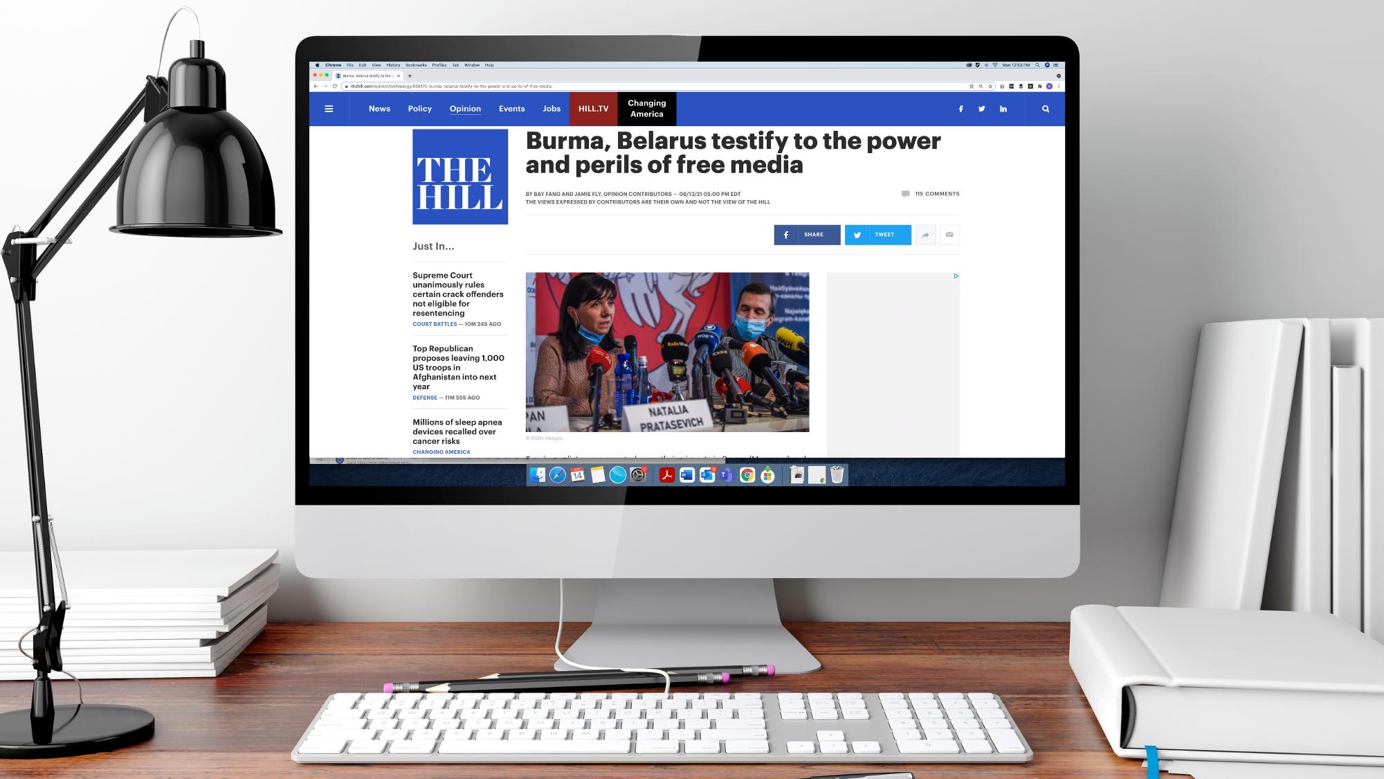 'Burma, Belarus testify to the power and perils of free media': RFA and RFE/RL Presidents