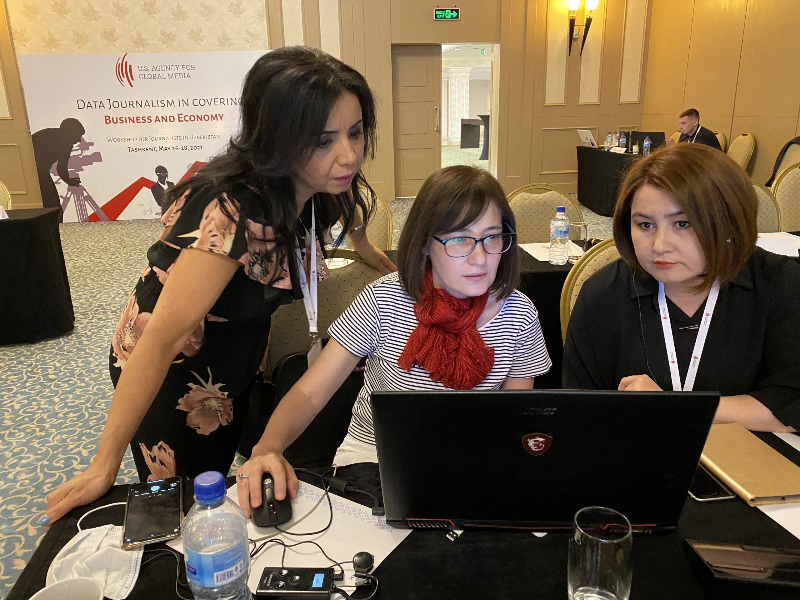 Uzbekistan: Data journalism for business reporting