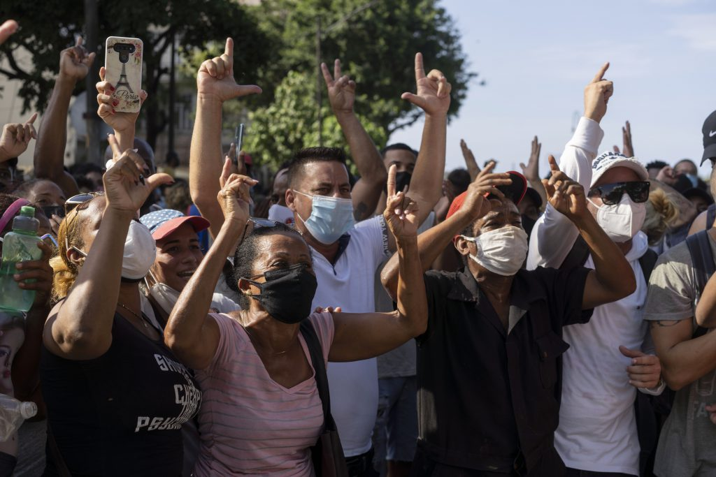 Image link to Cubans turn to Radio and Televisión Martí for unprecedented coverage during protests post