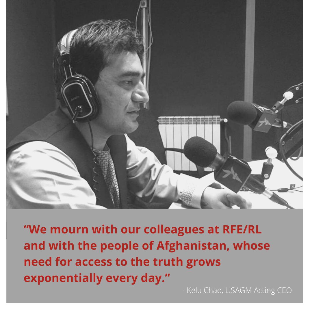 USAGM denounces Taliban murder of former journalist